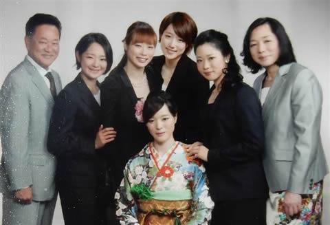 スケートの菊池家、家族(父母5人姉妹)