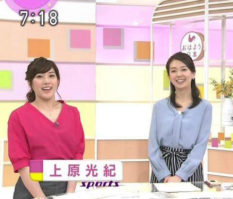 上原光紀アナ NHKニュース「おはよう日本」スポーツキャスターを担当